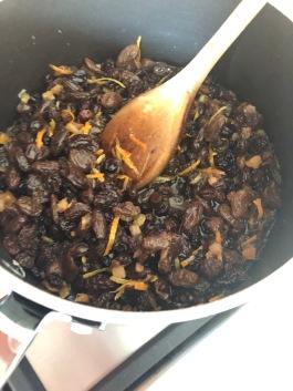 Fruit warming in saucepan